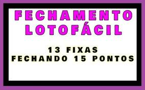 Planilha Lotofácil - Estratégia Com 13 Dezenas Fixas