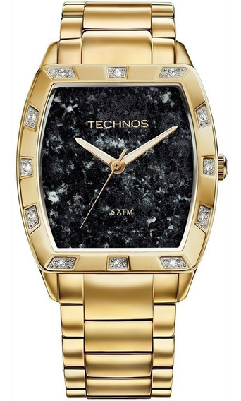 Relógio Feminino Technos Dourado/preto Elegance 2033ac/4p