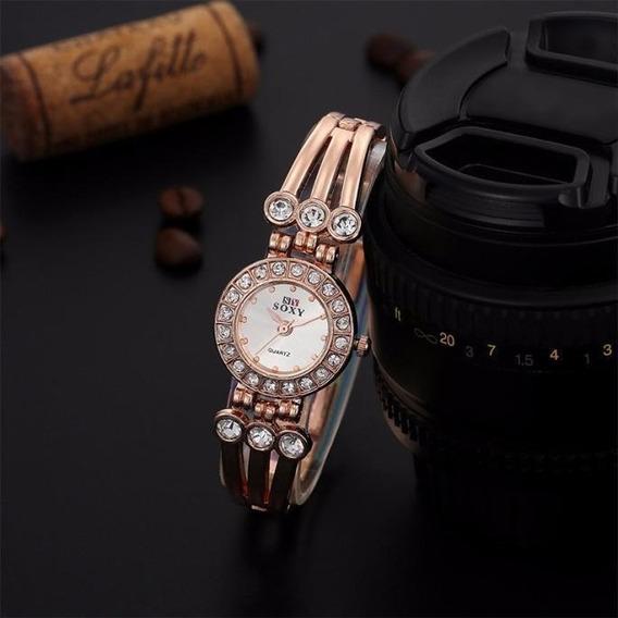 Lindo Relógio Feminino Delicado Marca Soxy Em Promoção