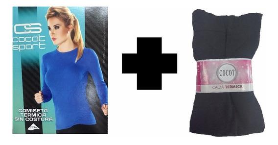 Conjunto Termico Mujer Camiseta + Calza Primera Piel Cocot