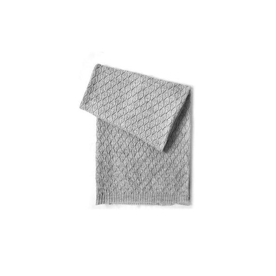 Manta De Bebé Estefoli Edelweiss Wool Blend, Gris