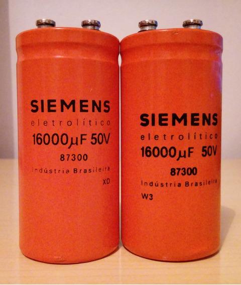 Capacitor 16000uf 50v Siemens - 2 Unidades
