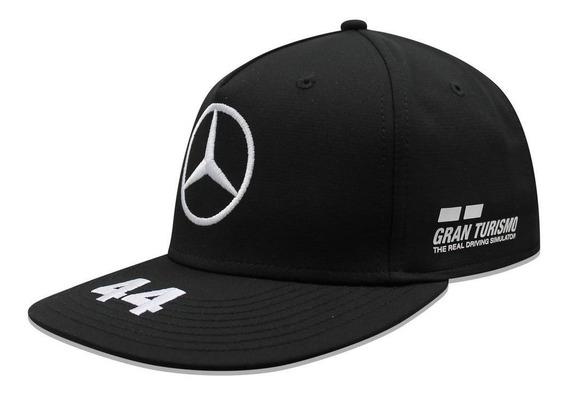 Gorra Mercedes Benz Lewis Hamilton 44 Petronas Negro