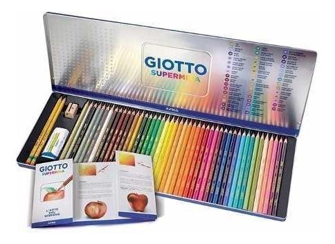 Lapices De Colores Lata Súpermina Giotto X50 Elementos