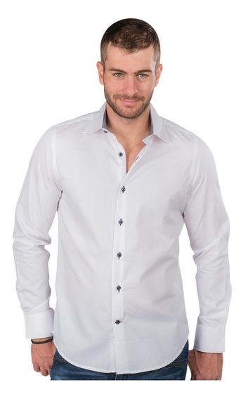 Camisa Hombre Casual Formal Slim Fit Vestir Moda Elegantes