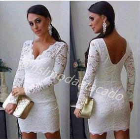 782d681337 Vestido Curto Social Casamento - Vestidos Curtos Femininas Branco no ...
