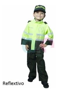 Disfraz De Policia Niño Reflextivo