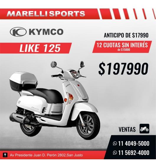 Kymco Like 125 En Marelli Sports, 12 Cuotas Sin Interes