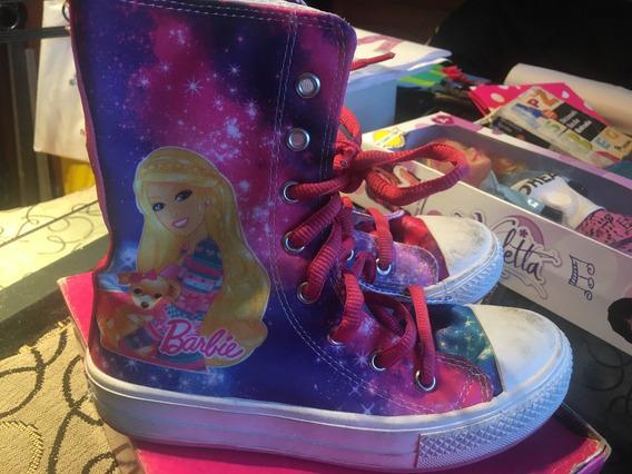 Barbie Botas Para Niñas Con Cierre Talle 34