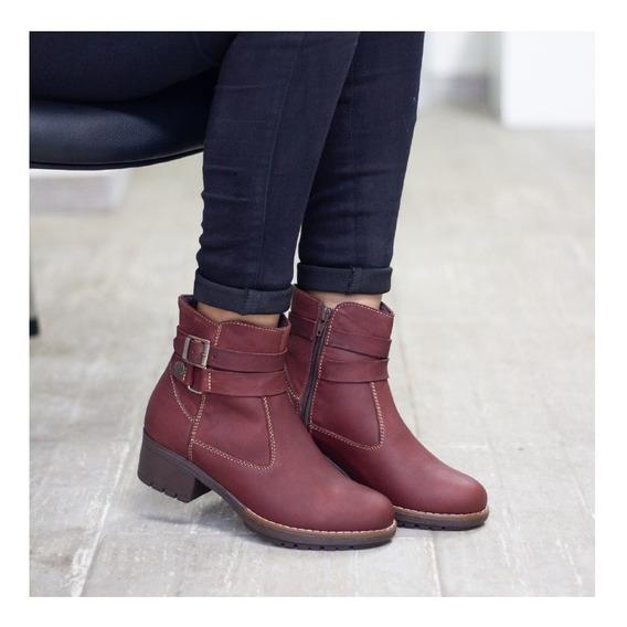 Botines Cuero Dama, Zapatos Cuero Maribu Shoes - Mod #723