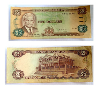 Antiguo Billete Bank Of Jamaica