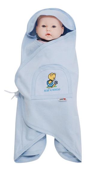 Manta Inteligente Zunotop Bebê Azul Toca Bolso Monte Moletom