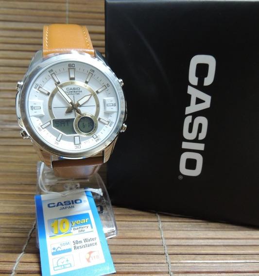 Relógio Casio Hora Mundial / Cronógrafo Amw-810l-5avdf - Nf
