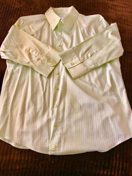 Blusa Verde Claro Marca Lady Hathaway Talla Xl