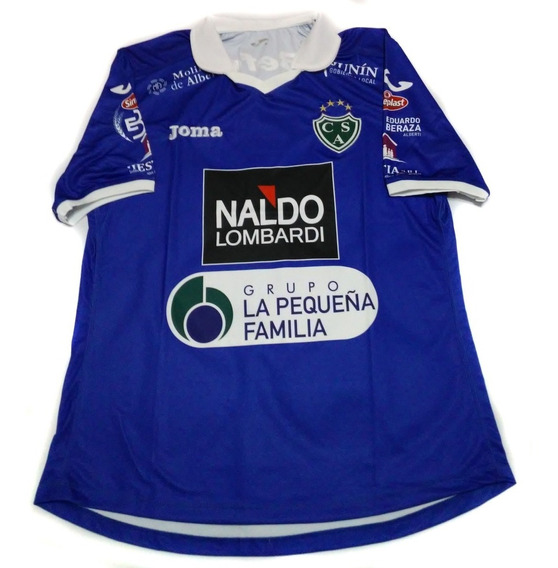 Camiseta Arquero Sarmiento Junin 2015 Joma Azul Con Numero