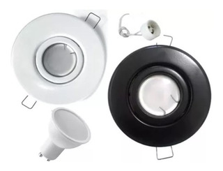 Spot Embutir Movil Con Dicroica Led 7w Completo Chapa Acero Color Blanco O Negro Con Luz Fria O Calida Garantia 2 Años!