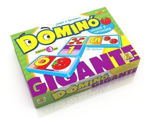 Imagen 1 de 3 de Domino Gigante Numeros Y Cantidades Juego De Implas E.full