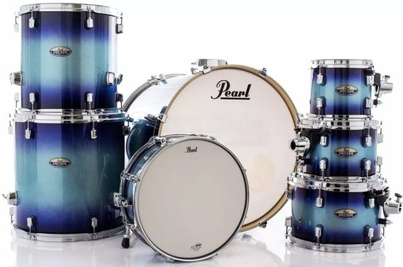 Bateria Pearl Shell Pack Decade Maple Faded Glory Lacquer Bumbo 22