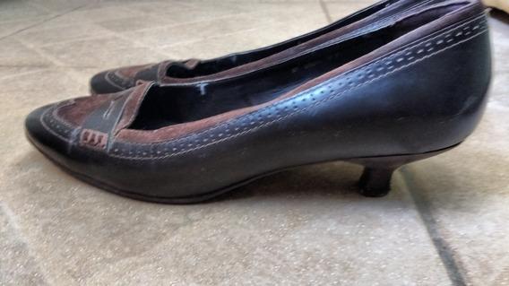 Sapato Fechado Scarpin Cor Marrom
