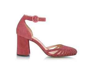 Sapato Luiza Barcelos Bico Redondo Camurça Rosa 11390021