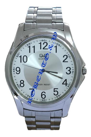 Relógio Masculino Original Qq Prateado Caixa Fino