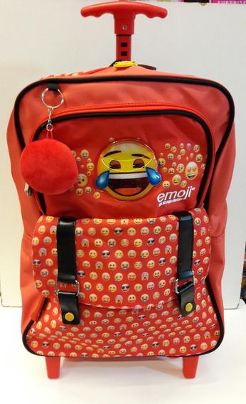 Mochila Emoji The Iconic Brand Con Carrito 16 PLG Cresko- Mj