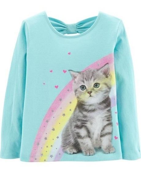 Carters Camiseta Blusa Manga Longa Menina - Original