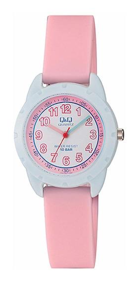 Relógio Infantil Feminino Rosa E Azul Prova D