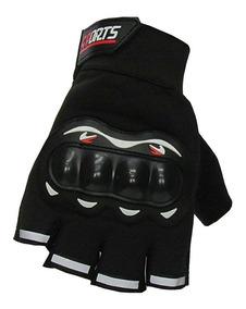 Luva Moto Motociclista Sport Meio Dedo Com Protetor