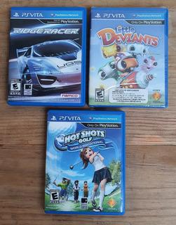 Juegos Para Ps Vita Ridge Racer, Little Deviants Y Golf
