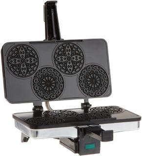 Mini Pizzelle Italian Waffle Iron Maker - Baker Hace Cuatro