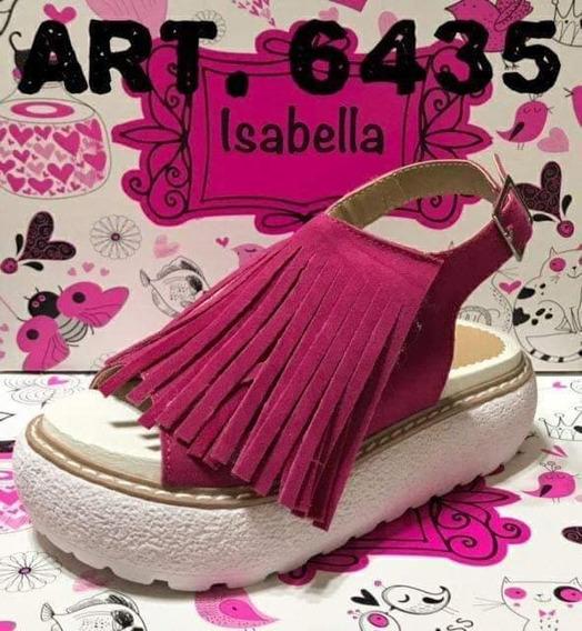 Sandalias Con Flecos De Niñas/nenas Fucsia Art 6435 Talles Del 28 Al 35