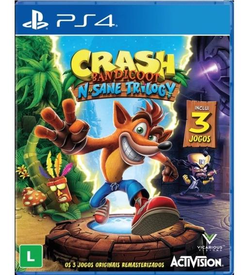 Crash Bandicoot N. Sane Trilogy Ps4 Novo Midia Fisica