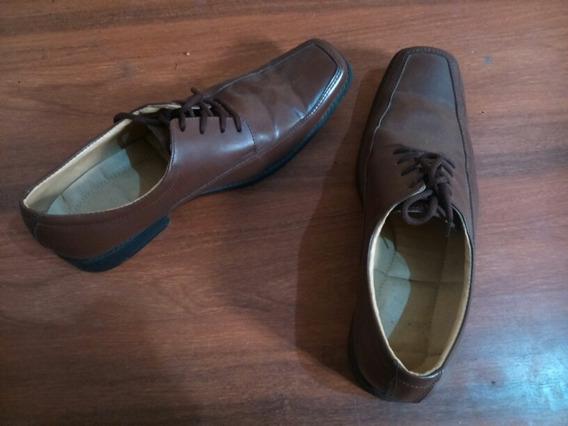 Zapatos De Cuero Café Claro.talla 41
