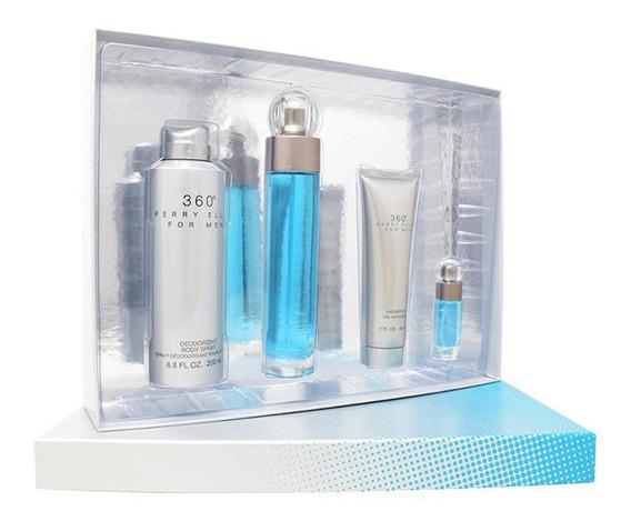 Set 360° 4pzs 100 Ml Edt Spray +shower Gel 90 Ml + Desodoran