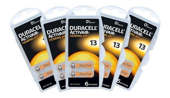 60 Baterias D A 13 Pr48 Aparelho Auditivo - Duracell