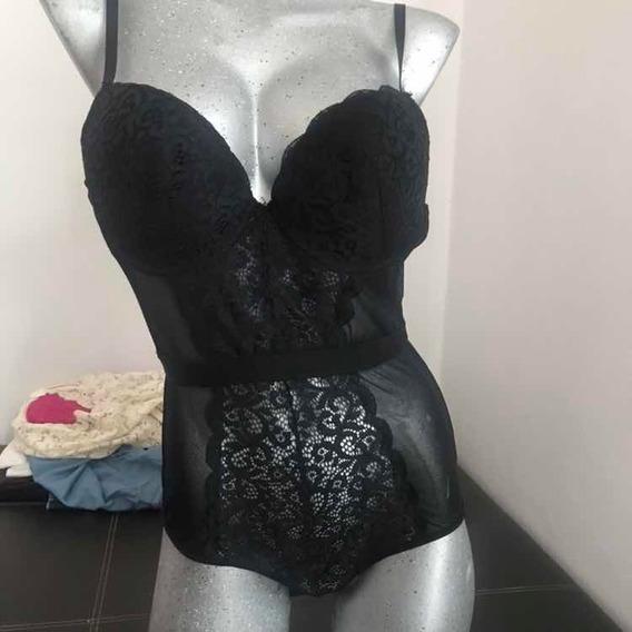 Bodybra Encaje Negro