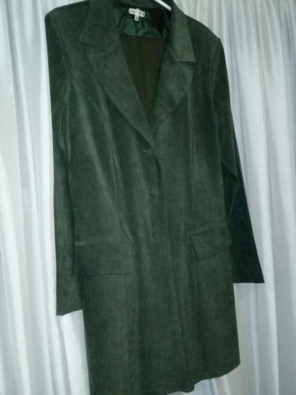 Sacon De Simil Pana Verde. Talle 4.