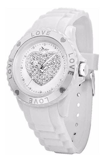 Relógio Feminino Branco Condor New Kw45146b Social Analógico