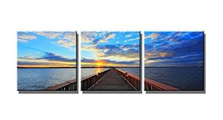 Wieco Arte Puente Bajo Puesta De Sol Moderno 3 Piezas Envue