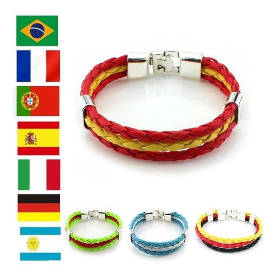 Bracelete Pulseira Liga Couro Compre 2 Leve 3