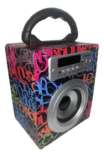 Corneta Portatil Bluetooth Usb Auxiliar Radio Recargable