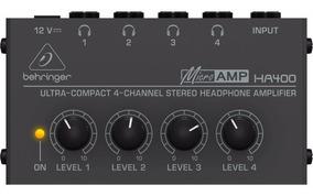 Amplificador De Fones Behringer Ha400 4 Canais Stereo