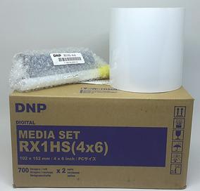 Kit Papel Fotográfico Dnp Rx1 10x15 (4x6)