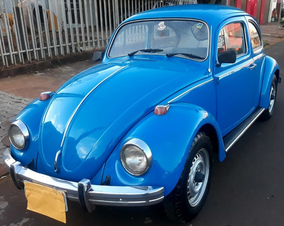 Volkswagen Fusca Motor 1500 1975 Azul 2 Portas