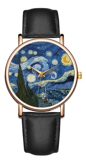 Reloj De Cuarzo Noche Estrellada Unisex + Envío Gratis