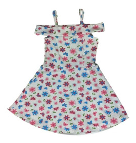 03 Vestido Infantil Menina Estampados Roupas Atacado Oferta