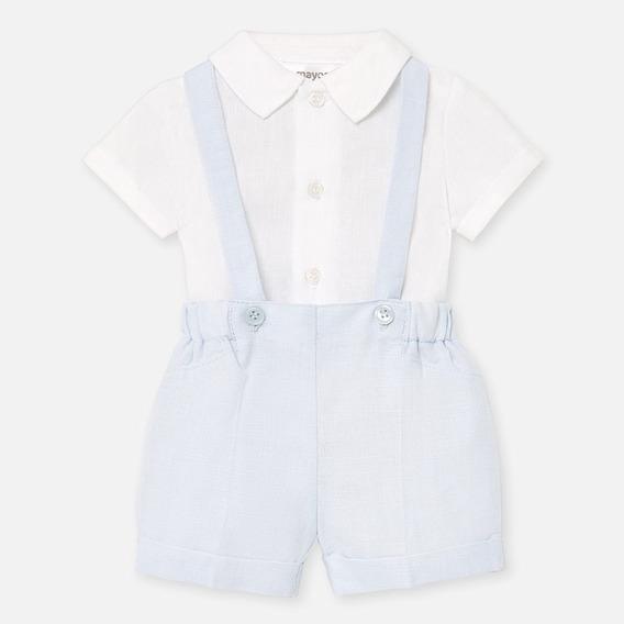 Conjunto Camisa Y Pantalón Corto Tirantes Bebé Niño