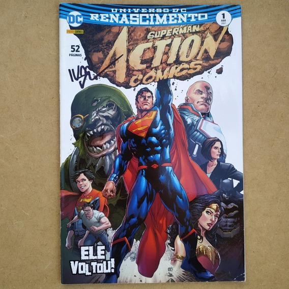 Hq Superman: Action Comics C/ Autógrafo Ivan Reis