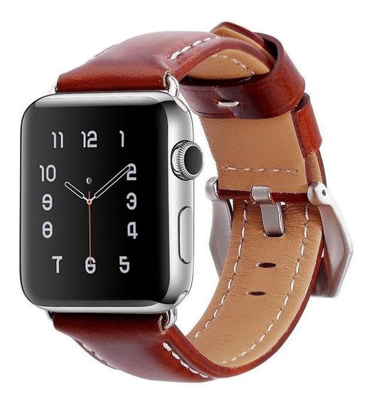 Correa Top4cus Cuero Legítimo P/reloj Iwatch Serie 1,2,3 Msi